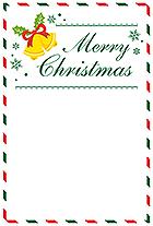 手書きメッセージ向けクリスマスレター