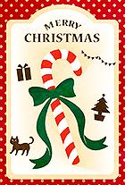 しましまクリスマスキャンディとドット柄