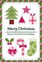 シンプルなクリスマスモチーフとツリー