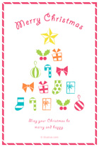 カラフルなクリスマスモチーフとメッセージ