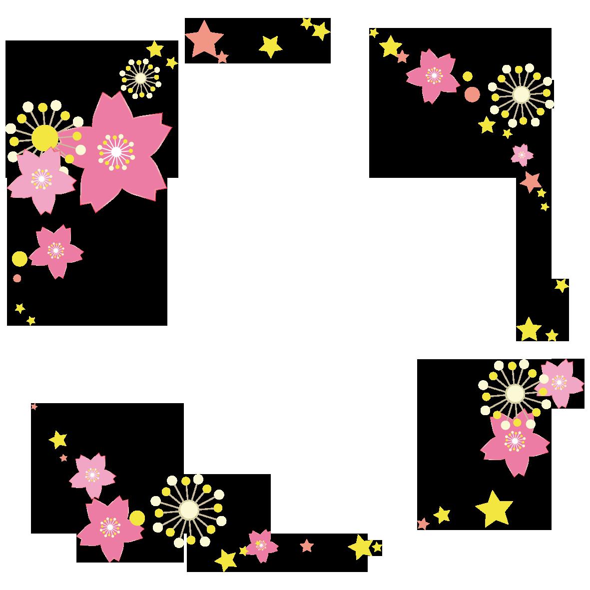 桜のサークルフレーム」 - 無料イラスト愛