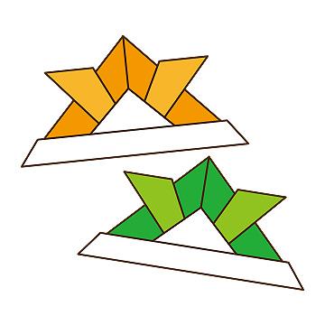 クリスマス 折り紙 折り紙 かぶと : illust-ai.com