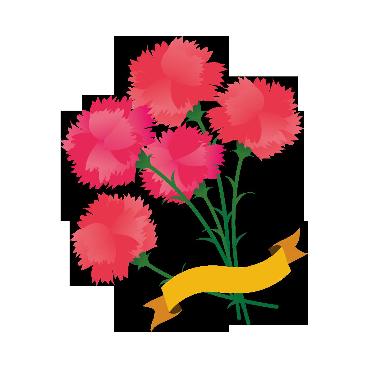 カーネーションの花束 無料イラスト愛