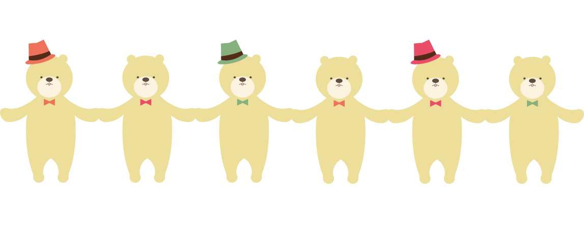 クマのライン素材」 - 無料イラスト[イラストareira]