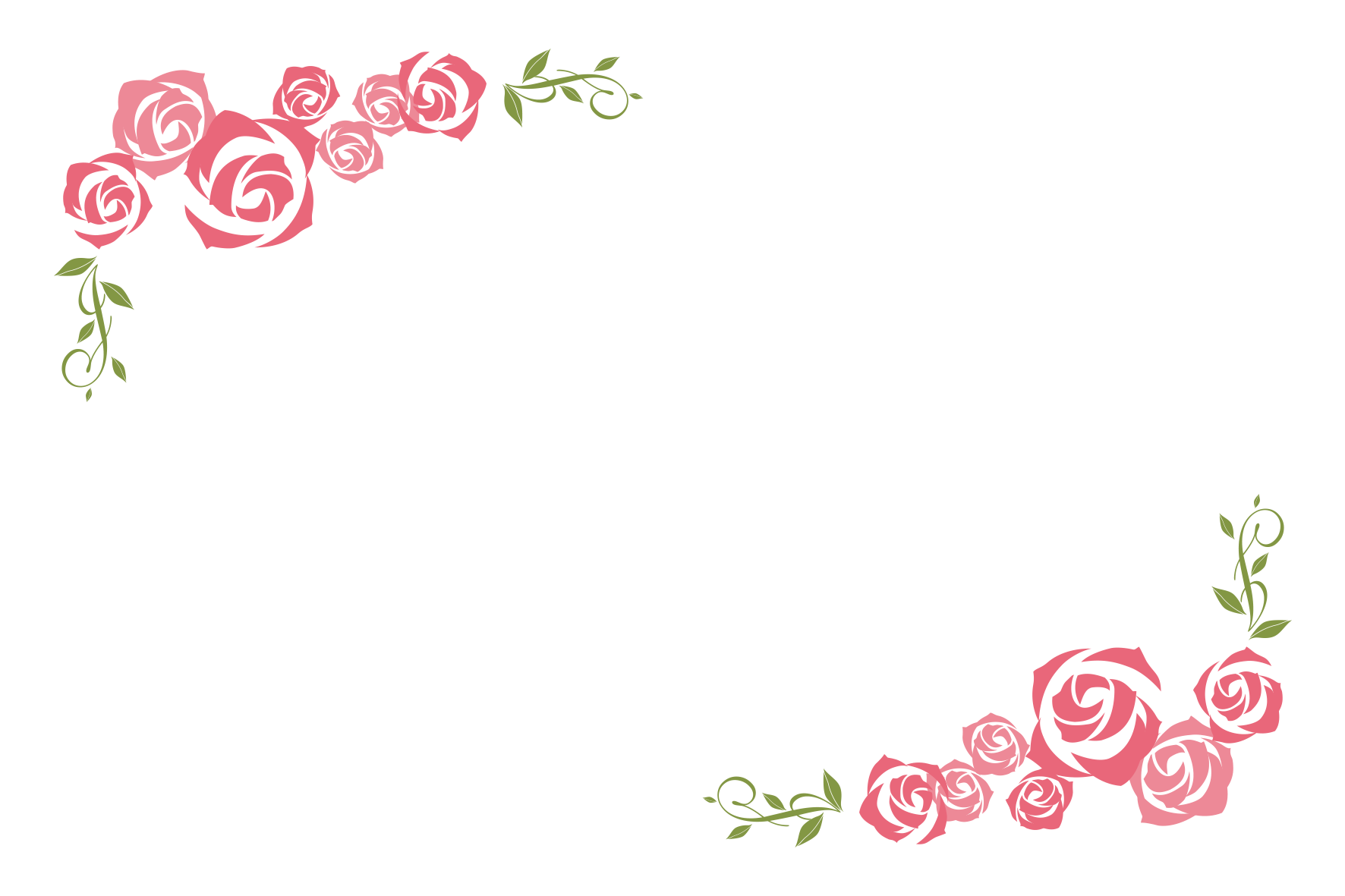 バラの飾り枠」 - 無料イラスト愛