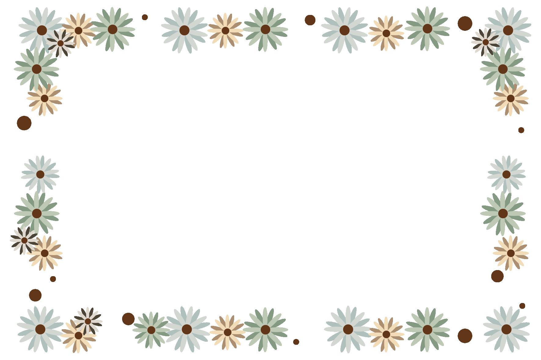 エレガントな花フレーム」 - 無料イラスト愛