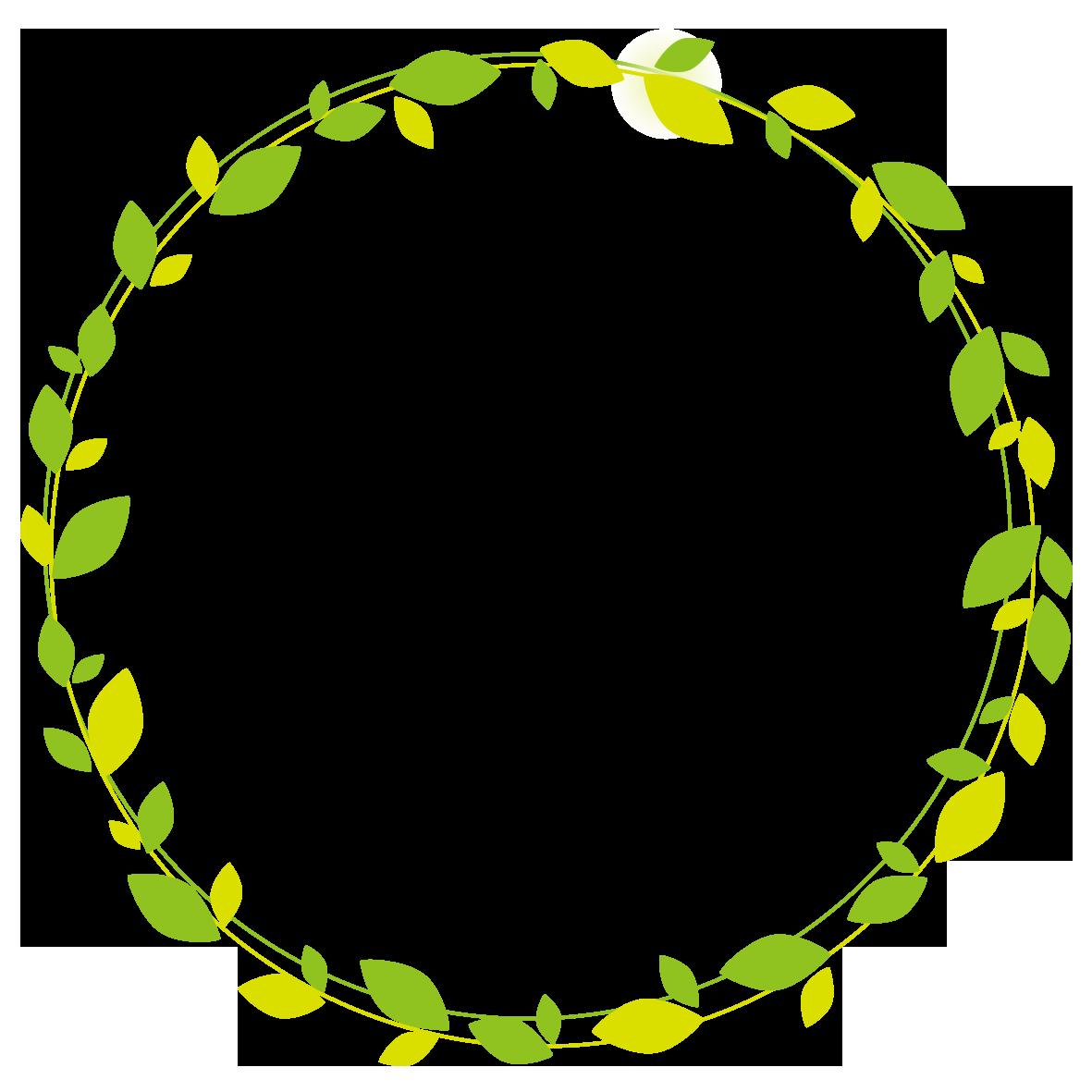 葉のリース 無料イラスト イラストareira
