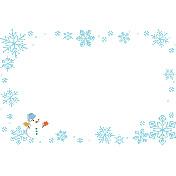 雪の結晶フレーム 無料イラスト愛