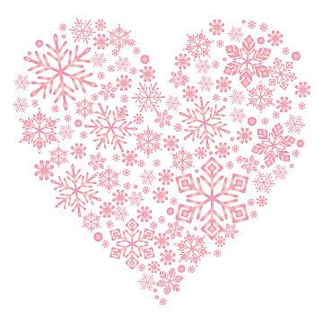 「雪ハート イラスト」の画像検索結果
