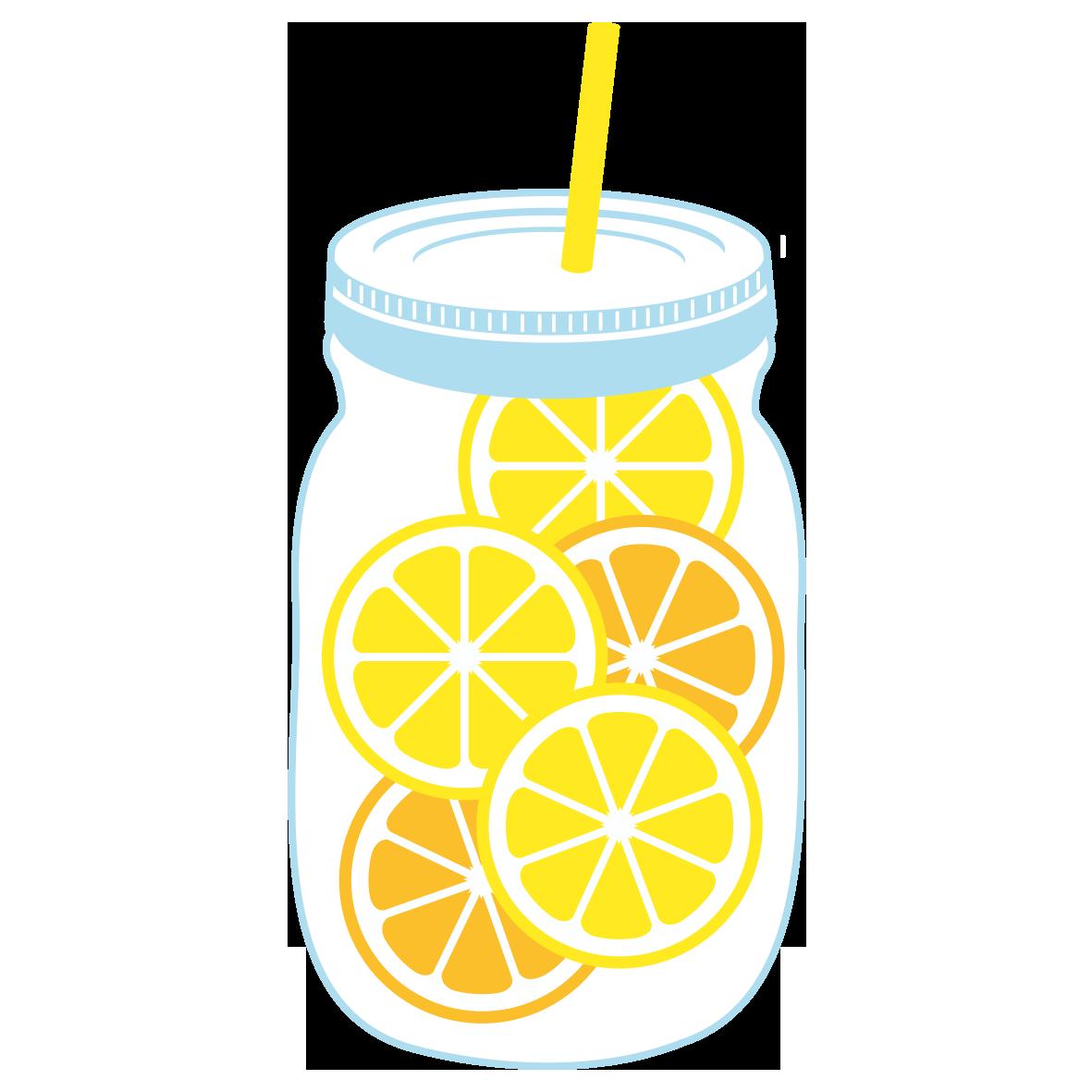 メイソンジャーのレモンドリンク」 - 無料イラスト愛
