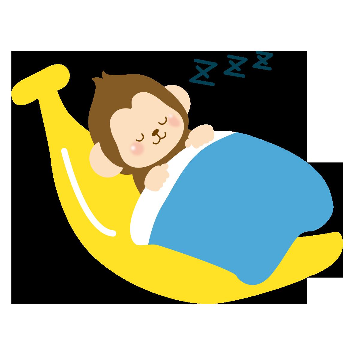 ぐっすり睡眠中のサル」 - 無料イラスト[アレイラ]