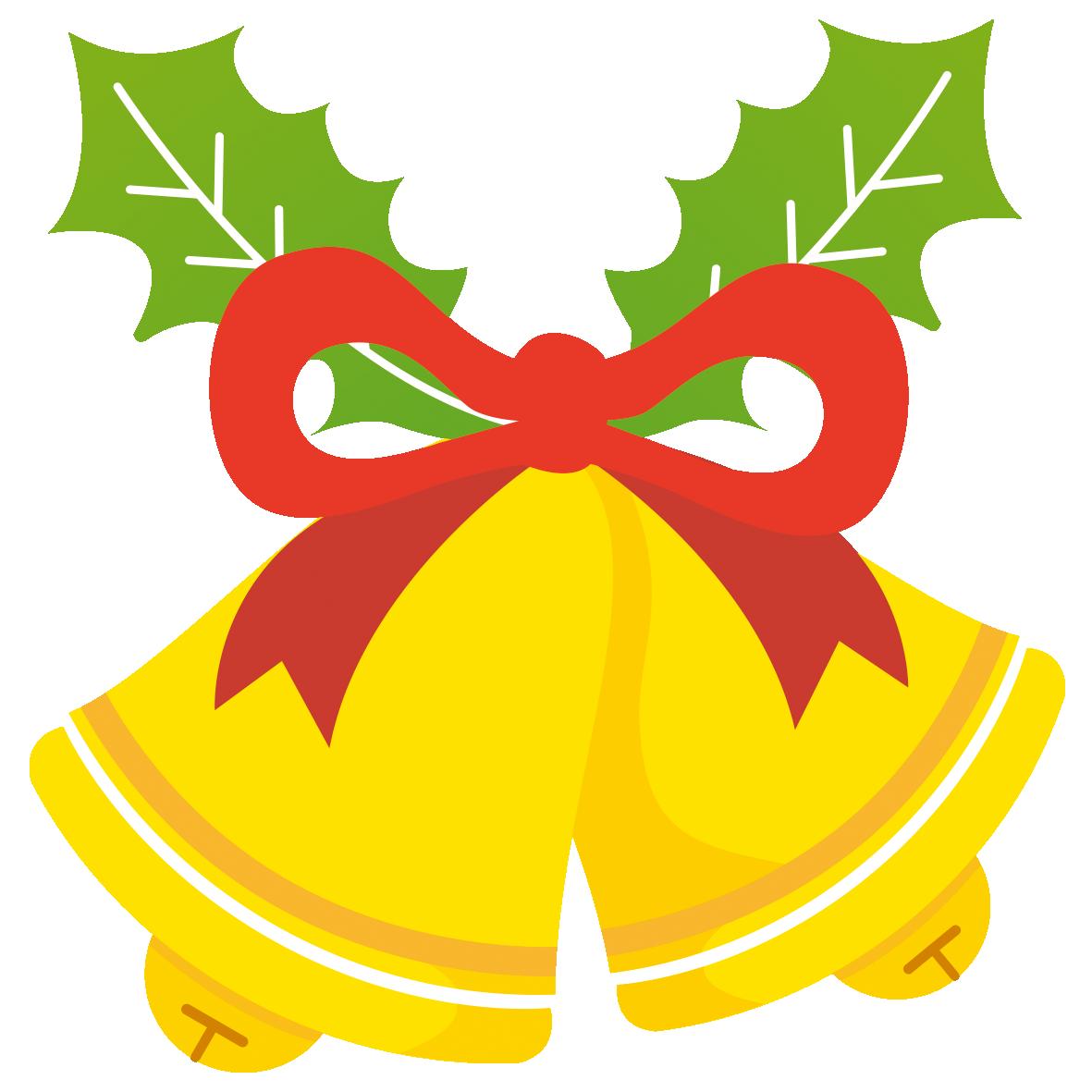 リボンで飾られたクリスマスベル 無料イラスト イラストareira