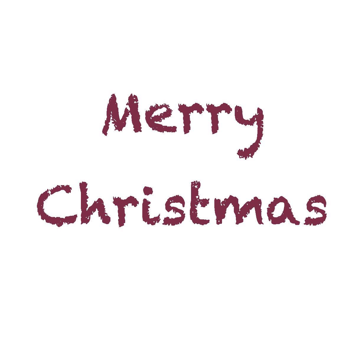 クレヨンタッチのメリークリスマス文字」 - 無料イラスト愛