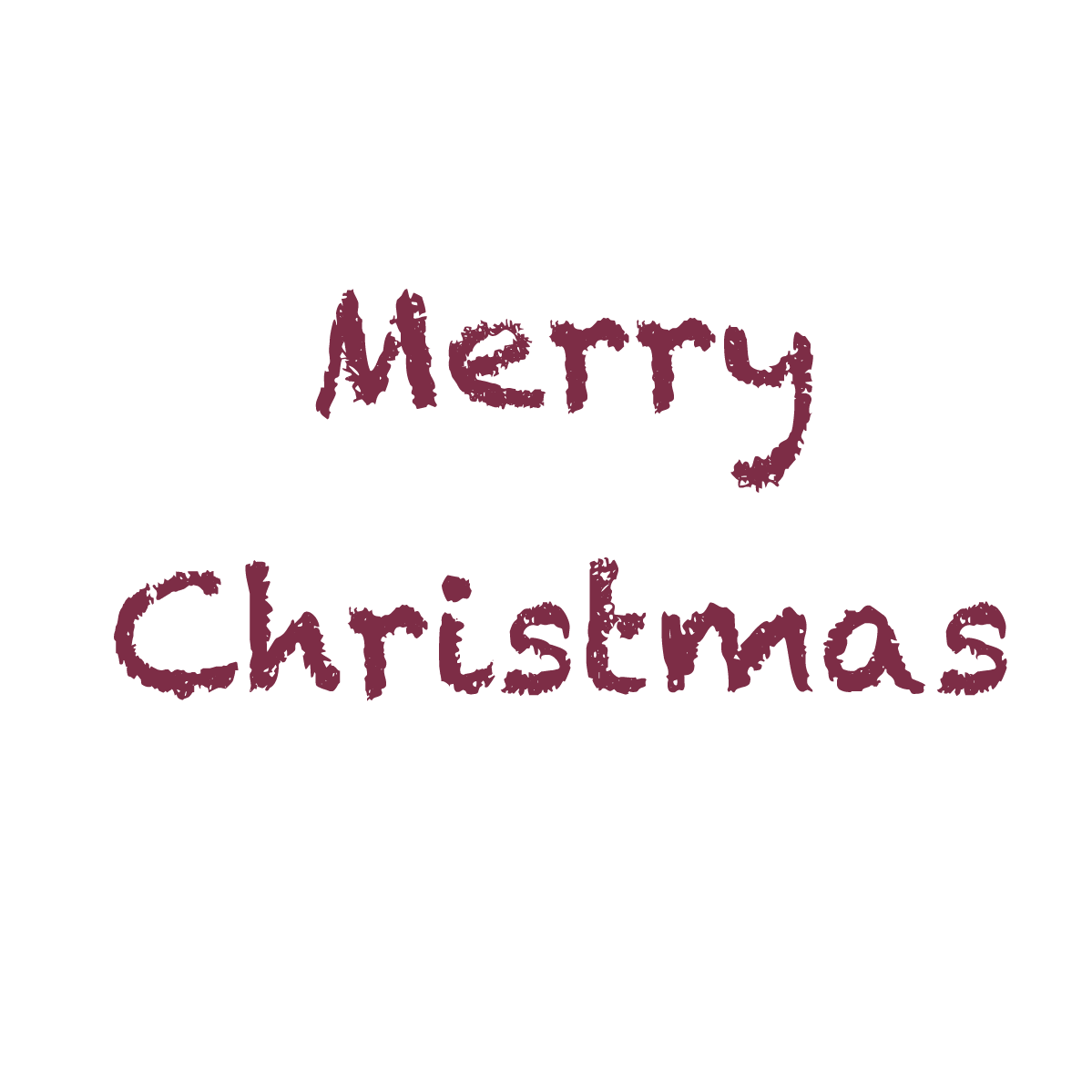 クレヨンタッチのメリークリスマス文字 無料イラスト イラストareira