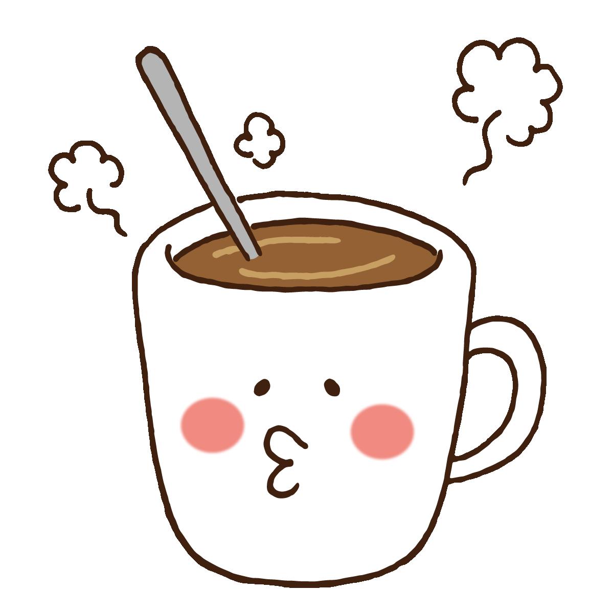 ゆるいマグカップのキャラクター 無料イラスト愛