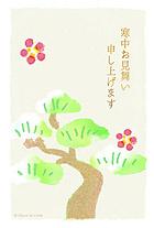 梅の花と松