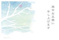 冬の冷えた空と木